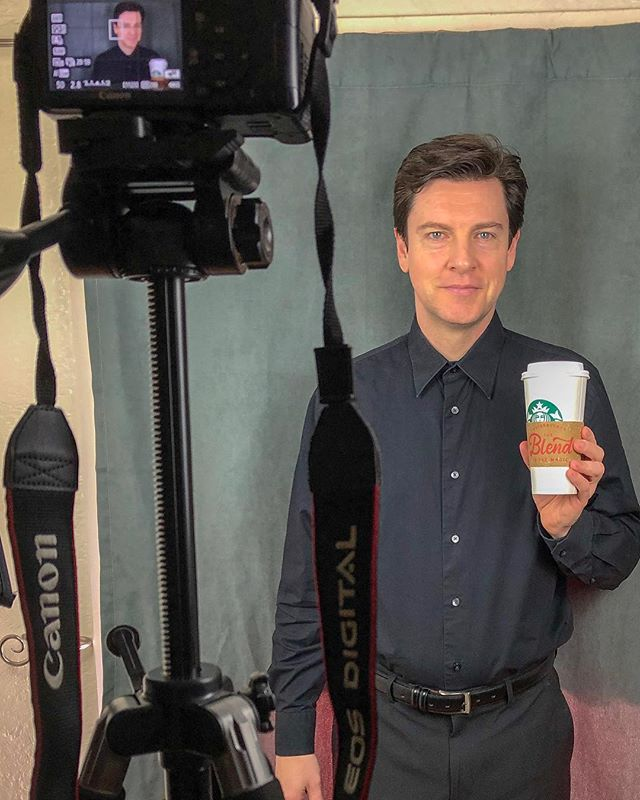 Shot my last (maybe?) self tape audition of 2018. Had a little help from my free Birthday drink from this new coffee place, Starbucks (sp?), think they're gonna be big!