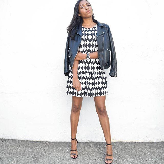 Diamond Dress + Moto Jacket🖤/www.houseoflva.com . Check out lordtimepieces.com and use code LVA10 for 10% off