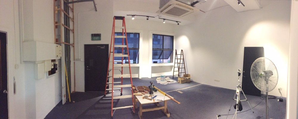 The revamping of our design studio and meeting space in progress