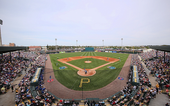 McKechnie Field during the Pirates-Blue Jays Spring Training contest. Courtesy Leon Halip/Getty Images