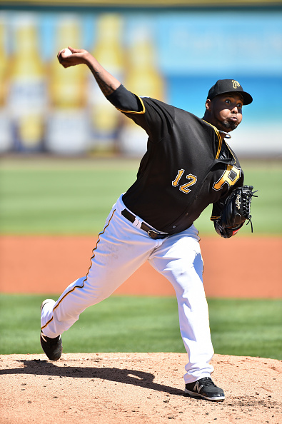 Juan Nicasio intimidating the batter. Courtesy Ronald C. Modra/Getty Images