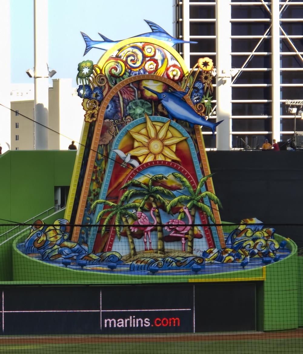Raise the weird fish statue. Courtesy Wikipedia.