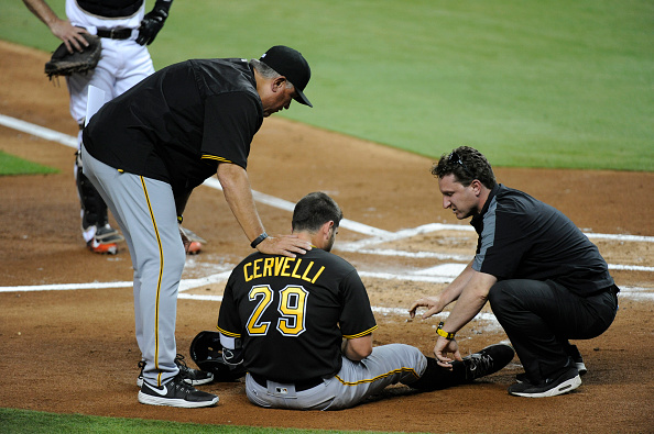 I was going to make a collage of pictures of all the injured guys, but what's the point. Courtesy Eric Espada/Getty Images.