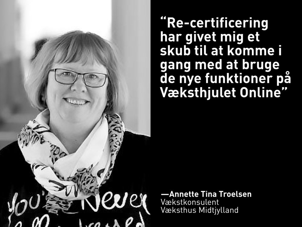 Annette Tine Troelsen, Væksthus Midtjylland