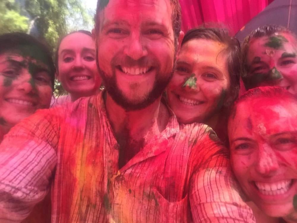Happy Holi!! #india #delhi #holi #happyholi #colors #travel