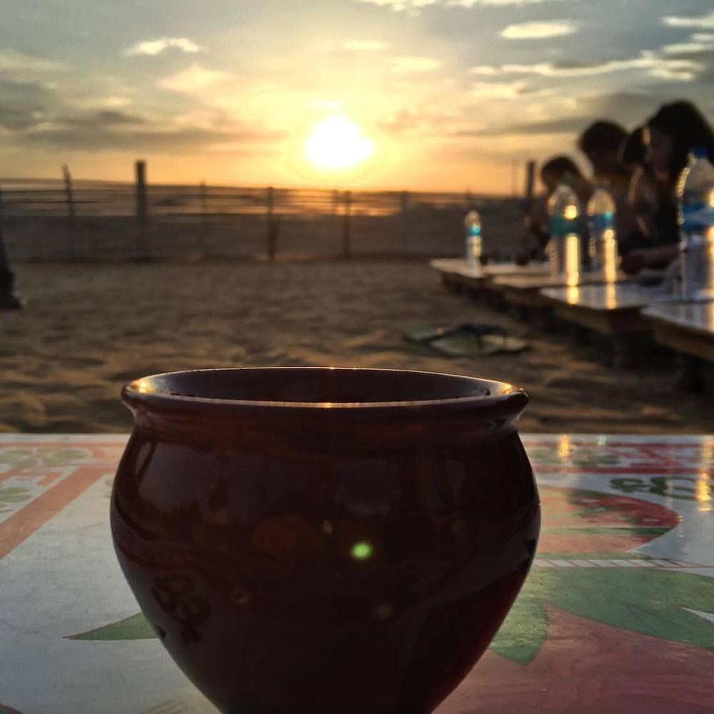 Drinking tea in the desert. #travel #india #pushkar #desert #masalachai #chai #rajasthan  (at Ajmer)
