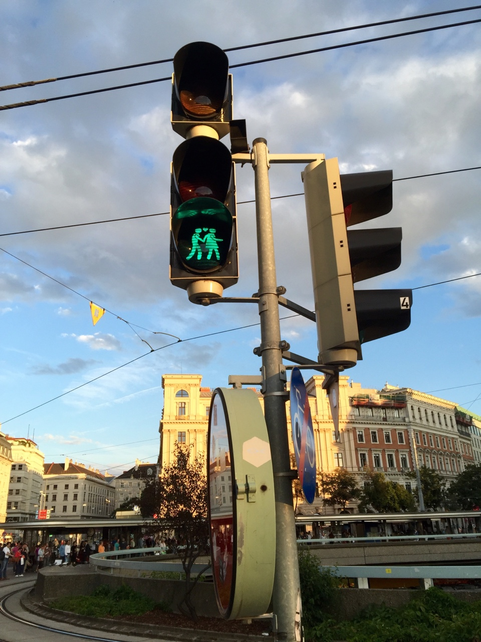 Vienna, Austria    By far the best walk signal that I have seen anywhere in the world.