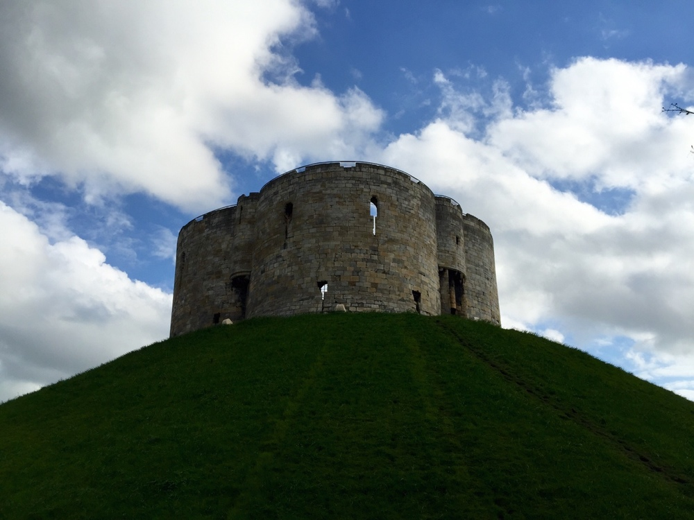 Clifford's Tower - York, United Kingdom    If you were to look at Clifford's tower from above, you would notice that it is shaped like a four leaf clover. It is one of the only two Norman-built towers of this design remaining in Northern Europe!