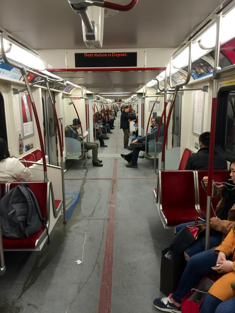 Toronto Subway Line - an eclectic mix of the best and worst that I've seen thus far from public transportation. Efficient, seemingly endless, and with live indicators showing where you are on the route.