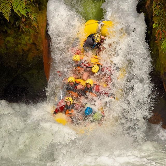 Whitewater rafting adventure with a 7m drop! Photo Credit @kaitiakiadventures - thanks for a great time 😎 #newzealand #nz #nzmustdo #adrenaline #whitewaterrafting #water #thrillseeker #outdoor