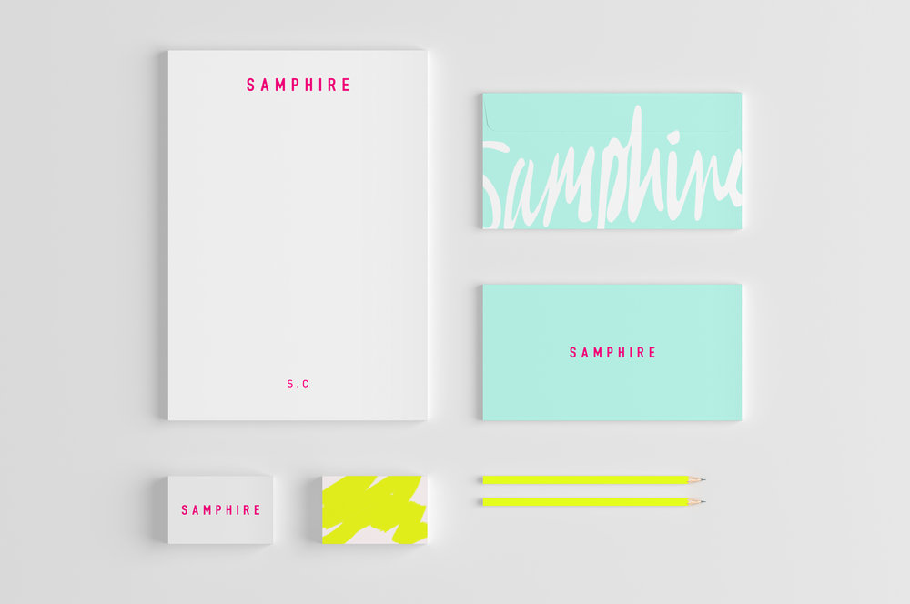 Samphire_stationary_white_background.jpSAMPHIRE_communications_hoult_and_delis_graphic_design_branding