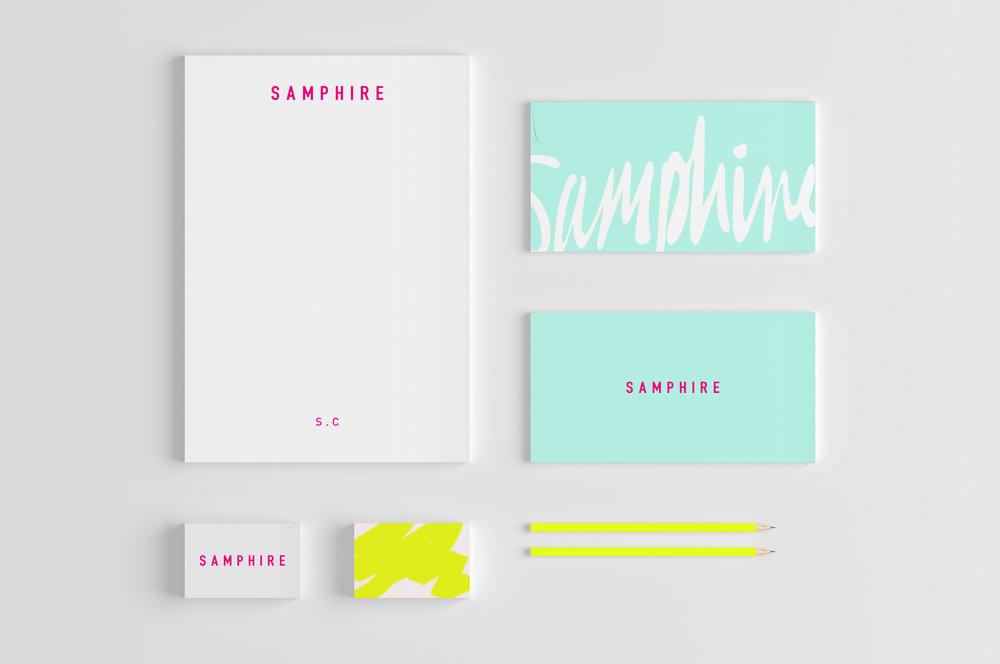 Samphire_stationary_white_background.jpSAMPHIRE_communications_hoult_and_delis_graphic_design_branding