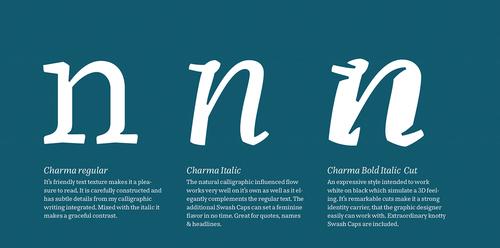 Charma Typeface Hejheidi