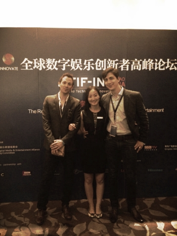 QingDao, China: UK and Chinese Government Representatives pose with our CEO and Creative Director.