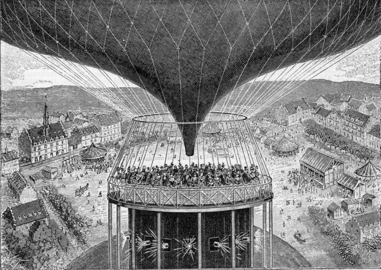 Grimoin-Sanson's Cineorama   Air-Balloon Panorama, 1900