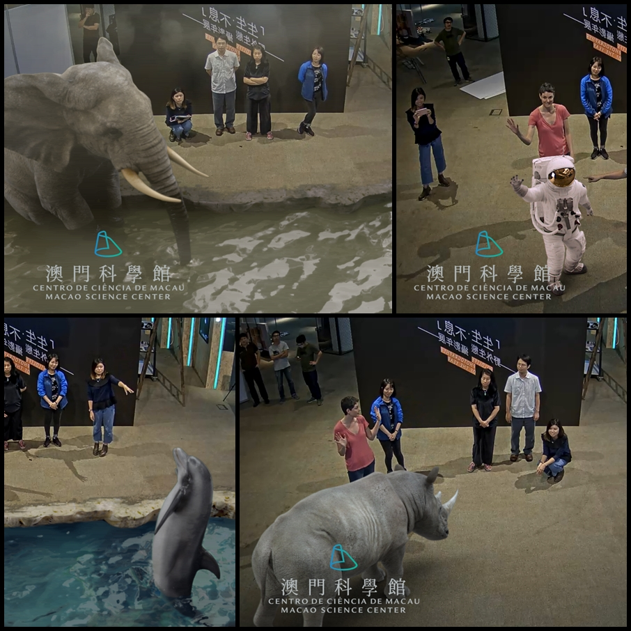 INDE's 3D animals in Augmented Reality at the Macao Science Center