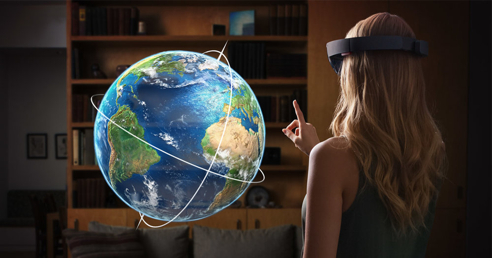 Microsoft HoloLens lets users interact with virtual holograms and real objects in their physical world.