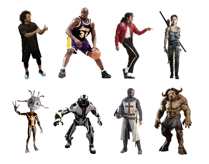 Sample Augmented Reality characters for our BroadcastAR experience