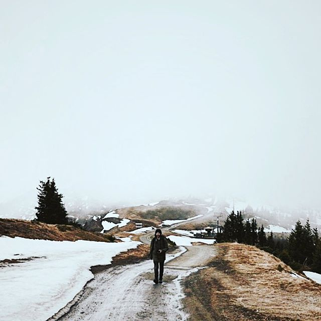 Hello, it's been a while! I've just finished another video which is where this still image came from -- you can check it out at vimeo.com/samuelhurt  Zell am See, Austria // #vsco #vscocam #travel #explore #inspire #scotland #visitscotland #adventure #roadtrip #hike #snow #winter #tree #wood #forest #road #nature #landscape #mist #fog #mountain