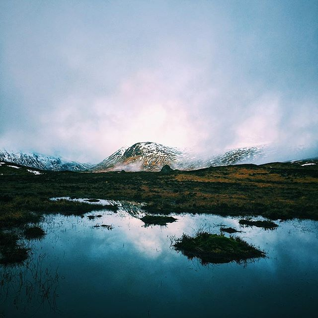 It's pretty damp up in Glencoe today! Glencoe, Scotland // #vsco #vscocam #travel #explore #adventure #hike #roadtrip #mountain #snow #winter