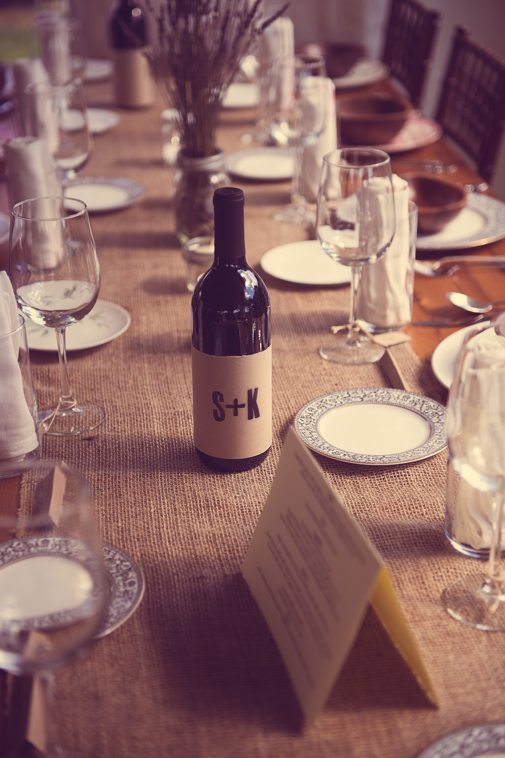 SK wine custom place setting china dishees outdoor
