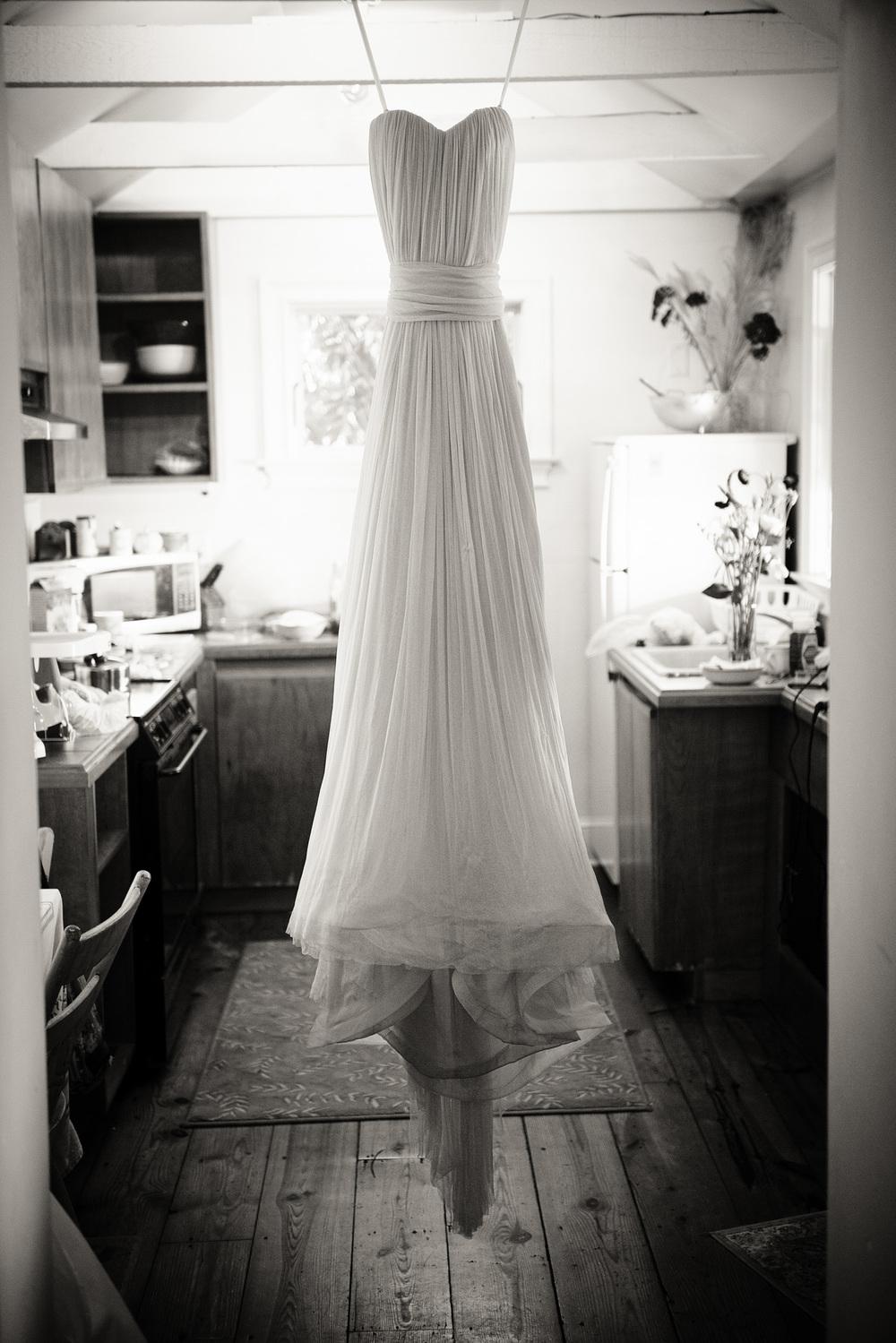 wedding dress gown homemade hanging