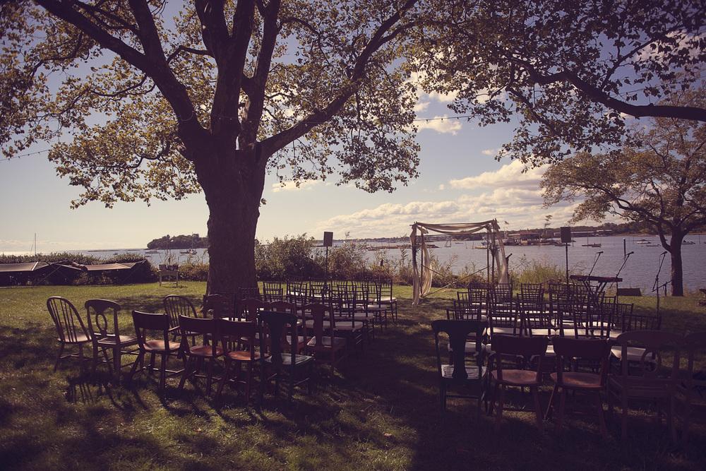 wedding venue outdoors coast New England Linden Point House Brandford, Connecticut Ocean