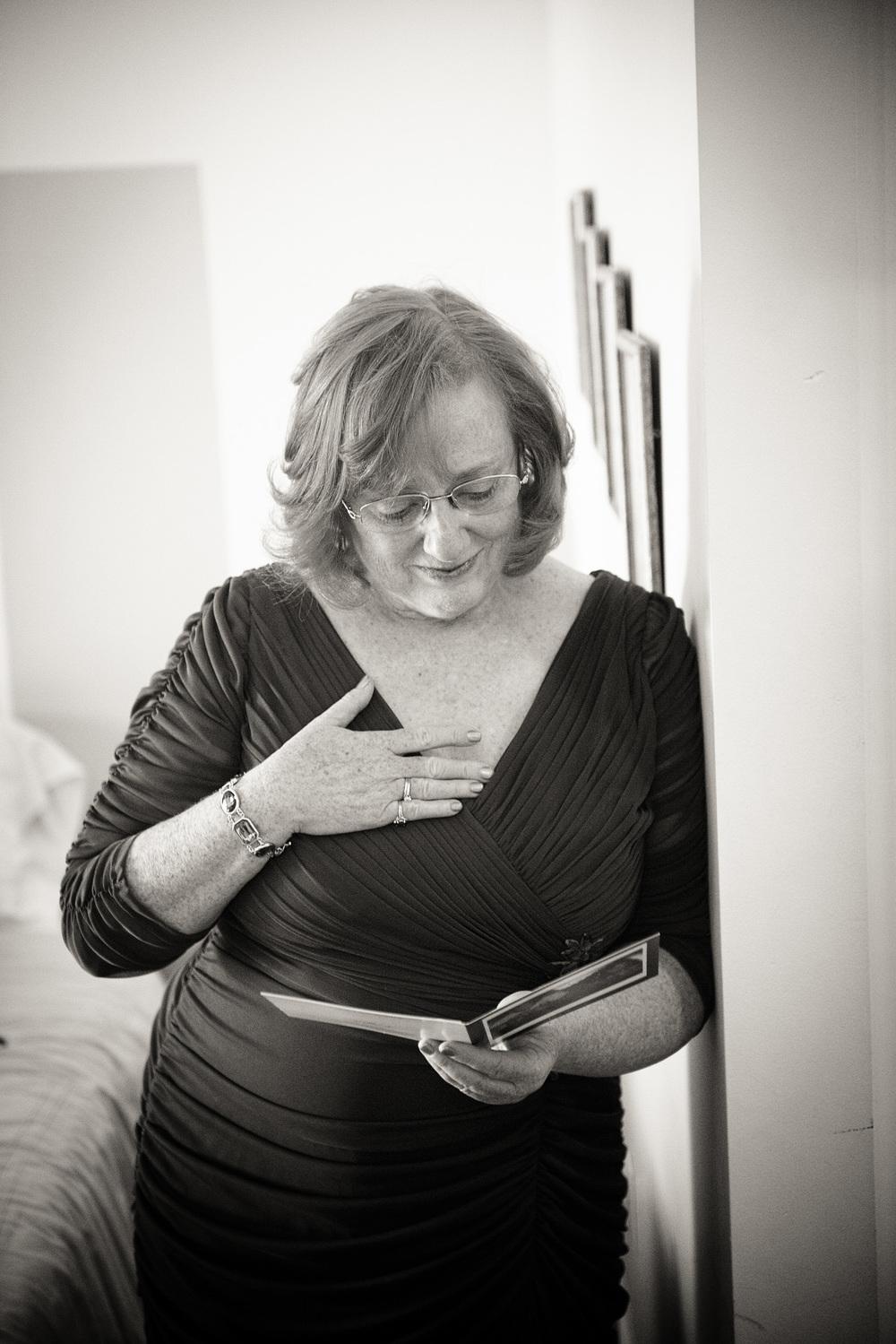 card mother tears joy emotion