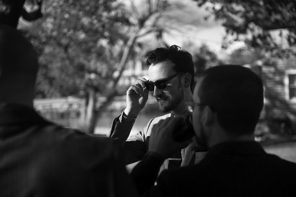 groom shades sunglasses cool bw sunshine