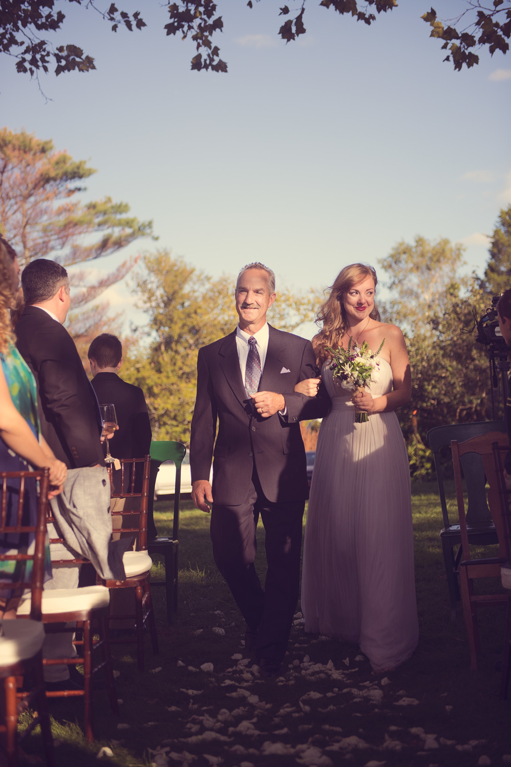 wedding bride father daughter aisle giving away