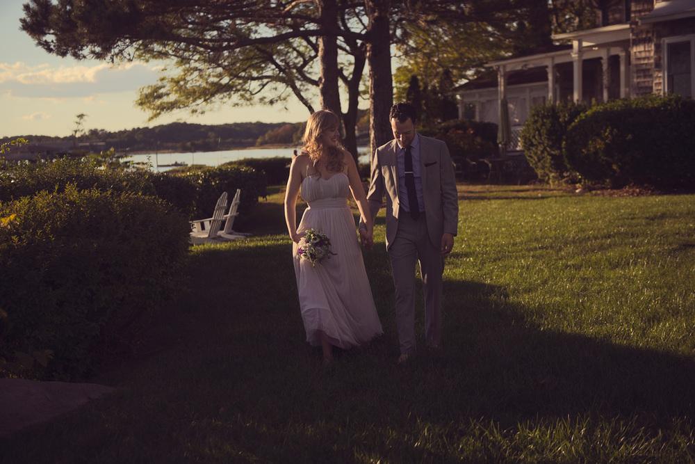 bride groom husband wife celebration coast ocean New England