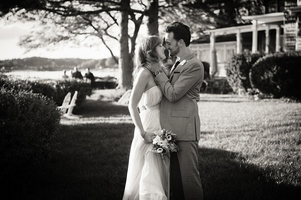 bride groom husband wife celebration love coast ocean New England Linden Point House