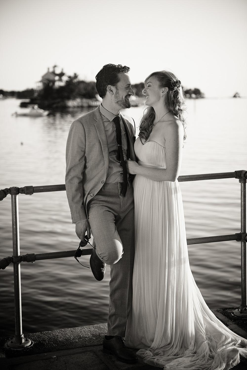 bride groom portrait wife THPHOTO New England Connecticut ocean coast picturesque