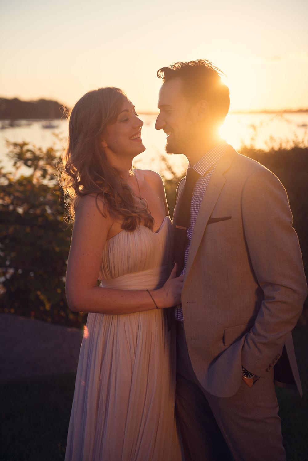 wedding couple husband wife bride groom portrait sunset drink sun flare THPHOTO