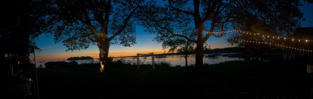 night lights hanging coast dusk