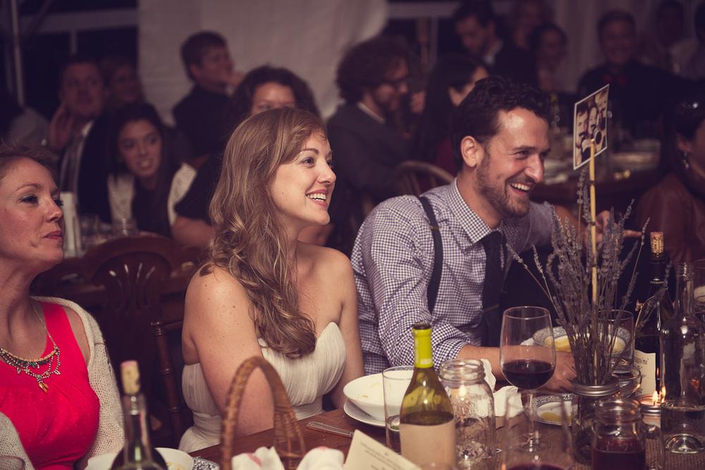 speech bride groom smile dinner night