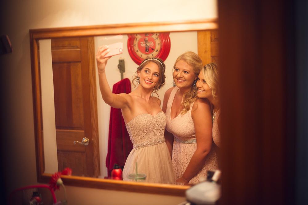 bridesmiads selfie mirror bathroom