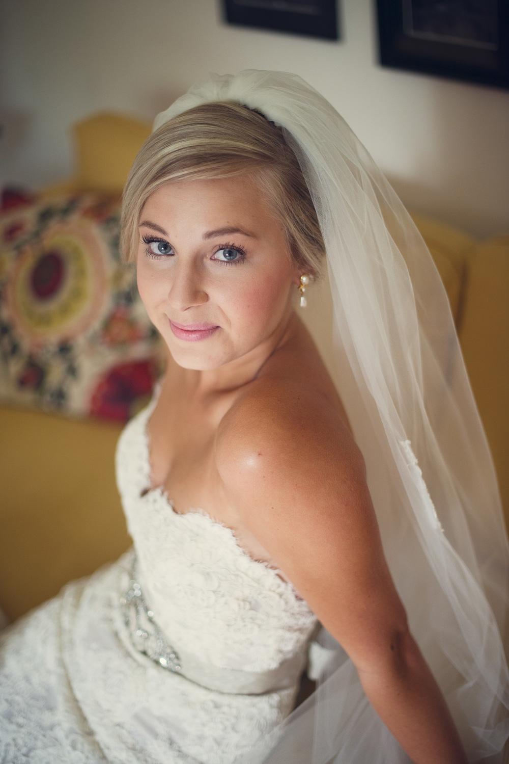 bride portrait dress lace veil