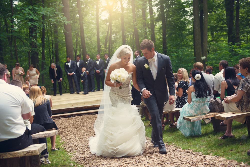 bride groom sun flare husband wife outdoor rustic wedding