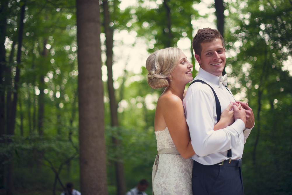 bride groom laughter smiling portrait THPHOTO forest background