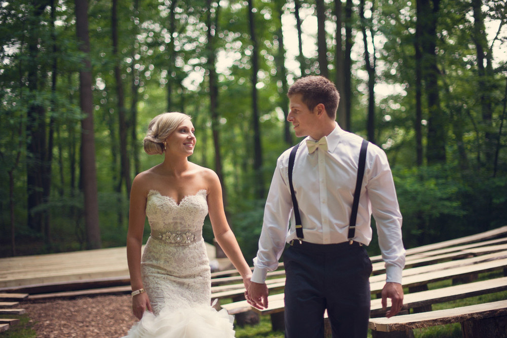 artistic rustic wedding bride groom laughter smiling portrait THPHOTO forest