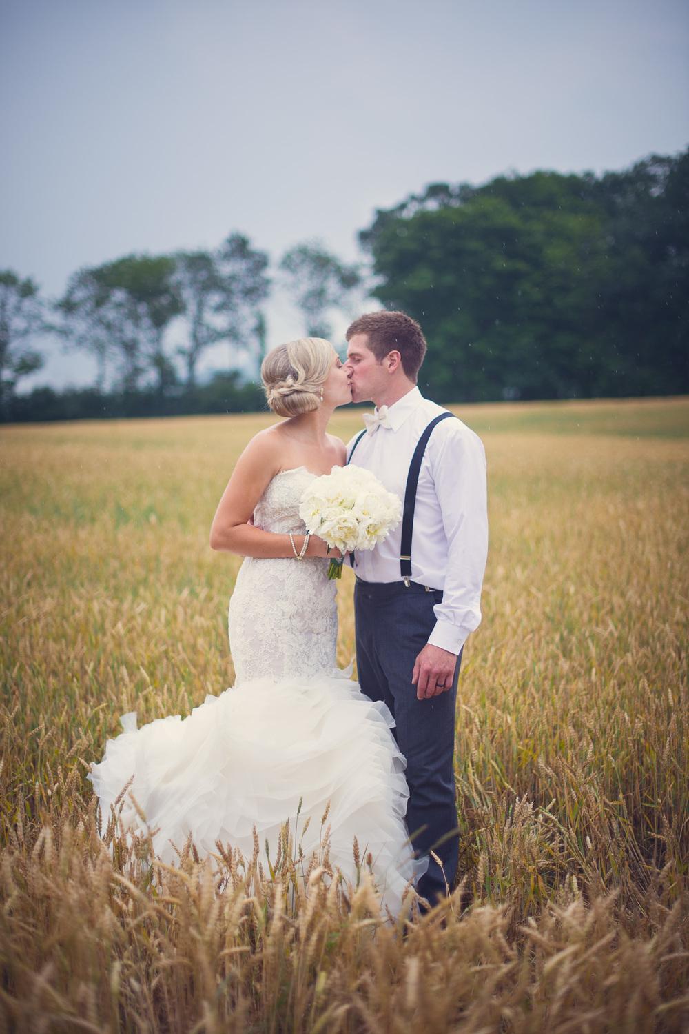 wedding open field bride groom couple husband wife portrait THPHOTO