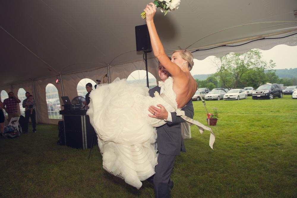 husband wife bride groom reception entrance