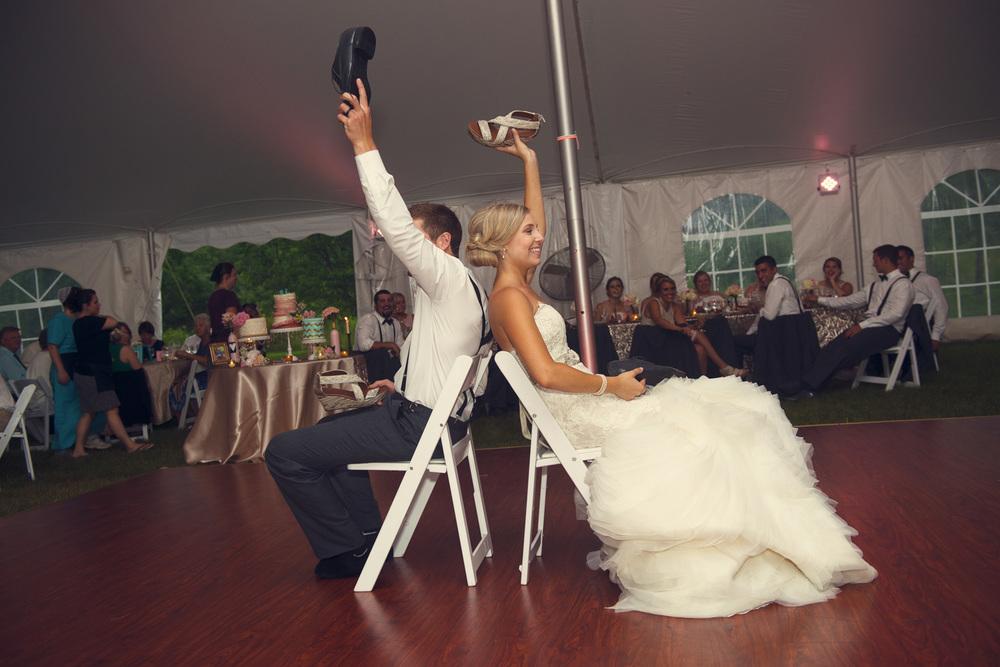 bride groom newlywed game shoelywed reception