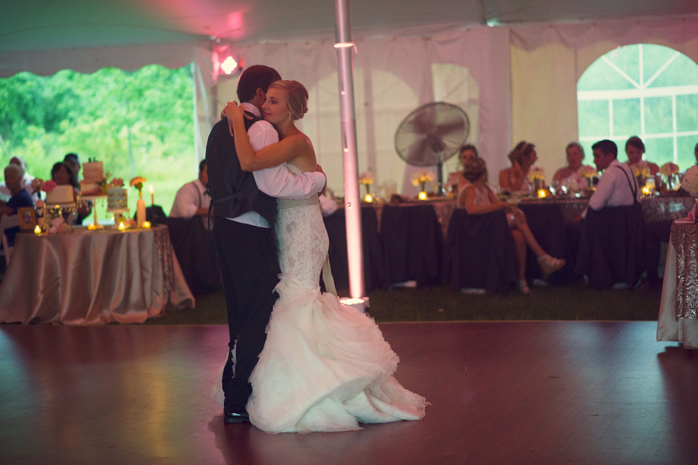 bride father daughter dance reception