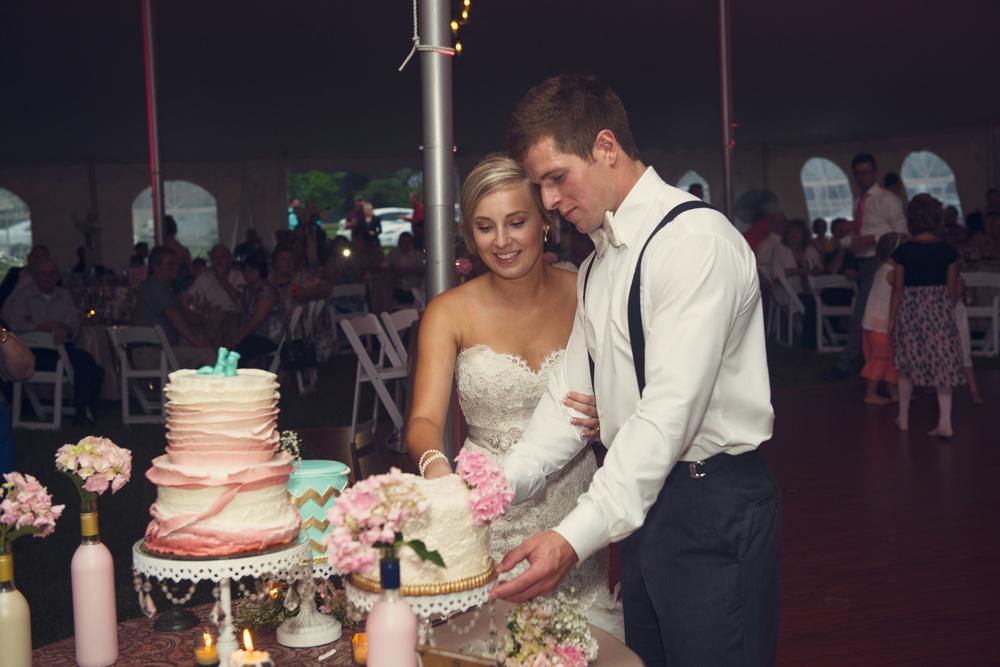 bride groom cake cutting dessert