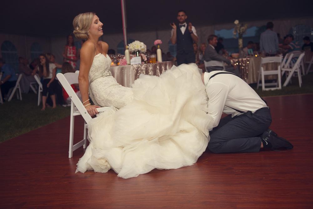 bride groom garter undercarriage