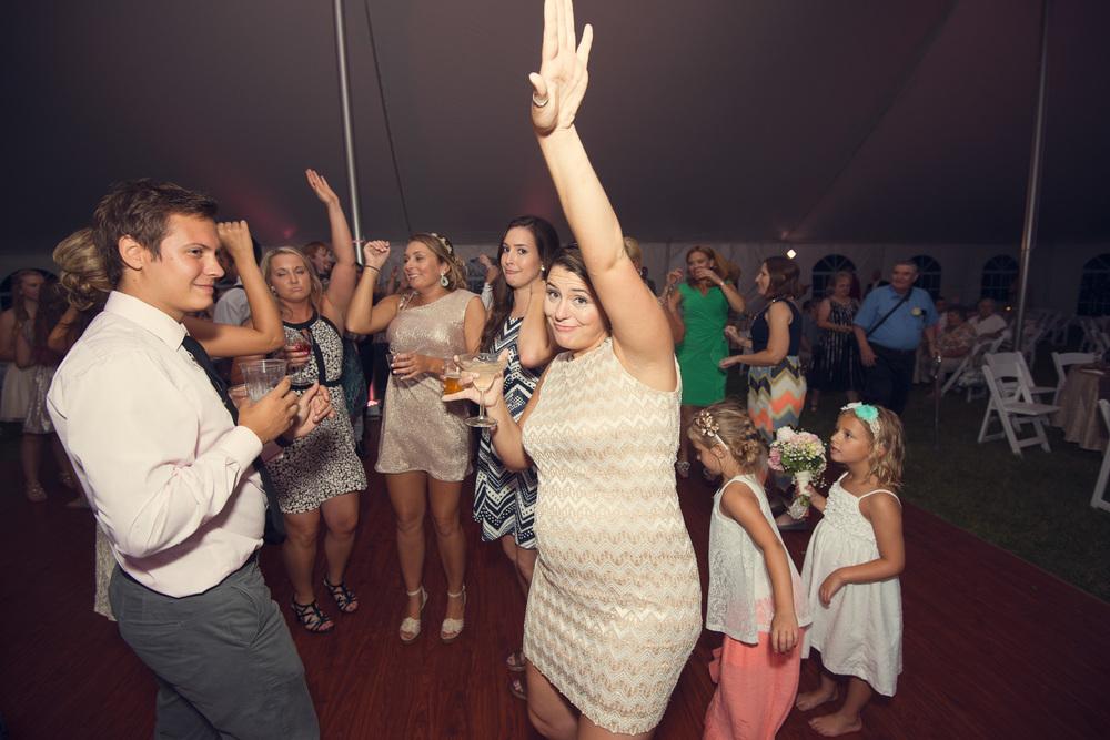 dance party reception