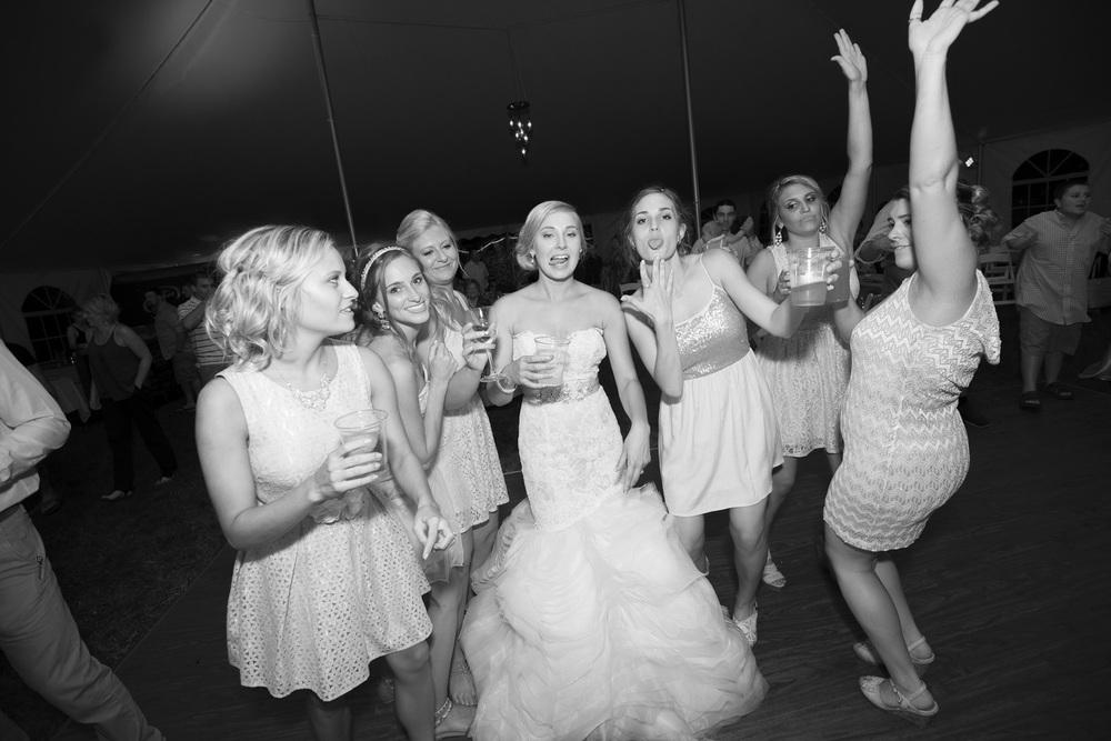 bridal party friends grils bride  goofy