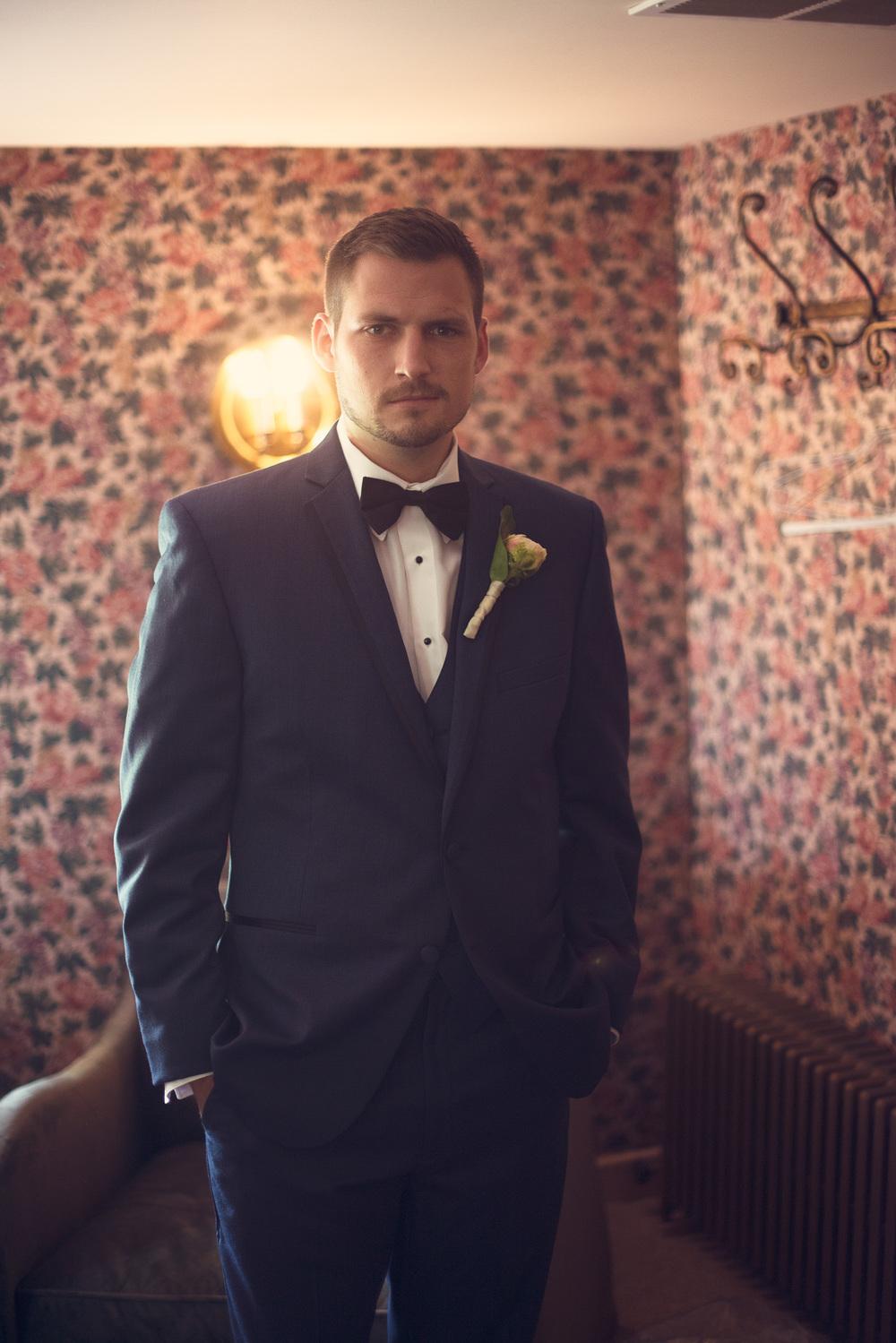 groomsmen tuxedo bowtie portrait THPHOTO